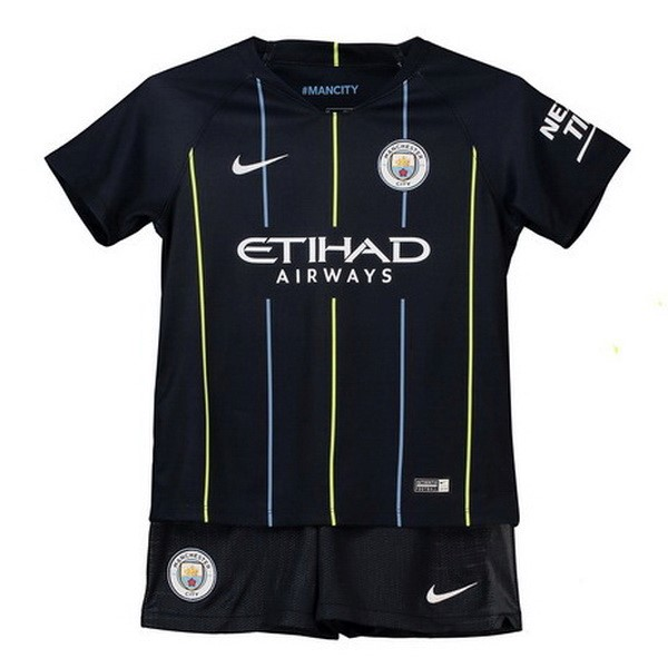 Camiseta 2ª Kit Manchester City Niños 2018 2019 Azul